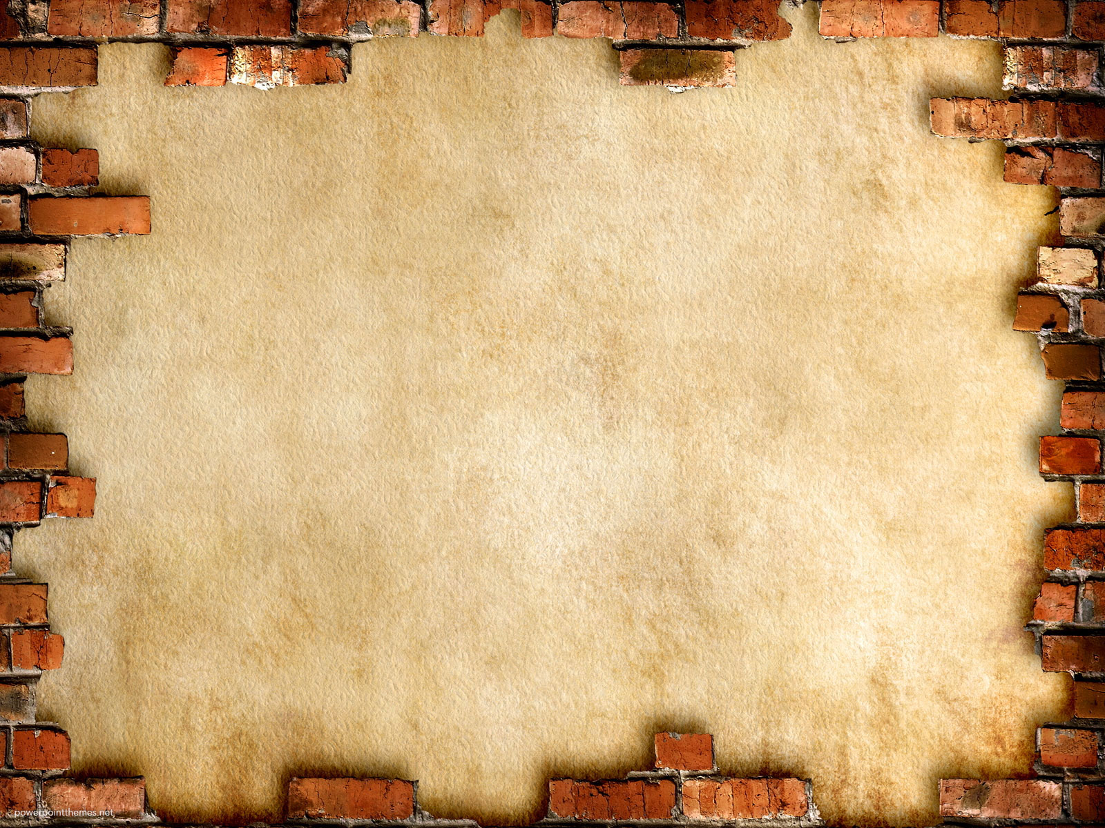 Brick wall framed background powerpoint themes for Wall art templates free
