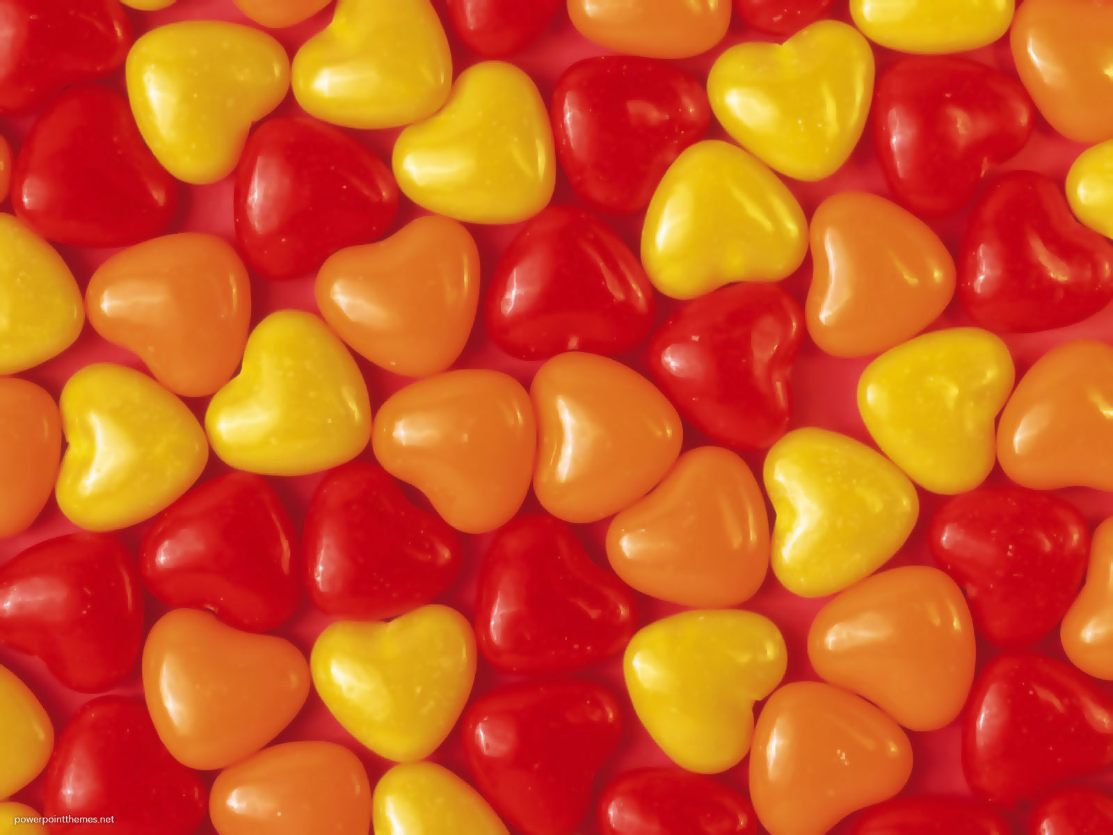 Candy Heart Shape Background