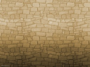 Decorated Brick Wall Background Powerpoint Themes