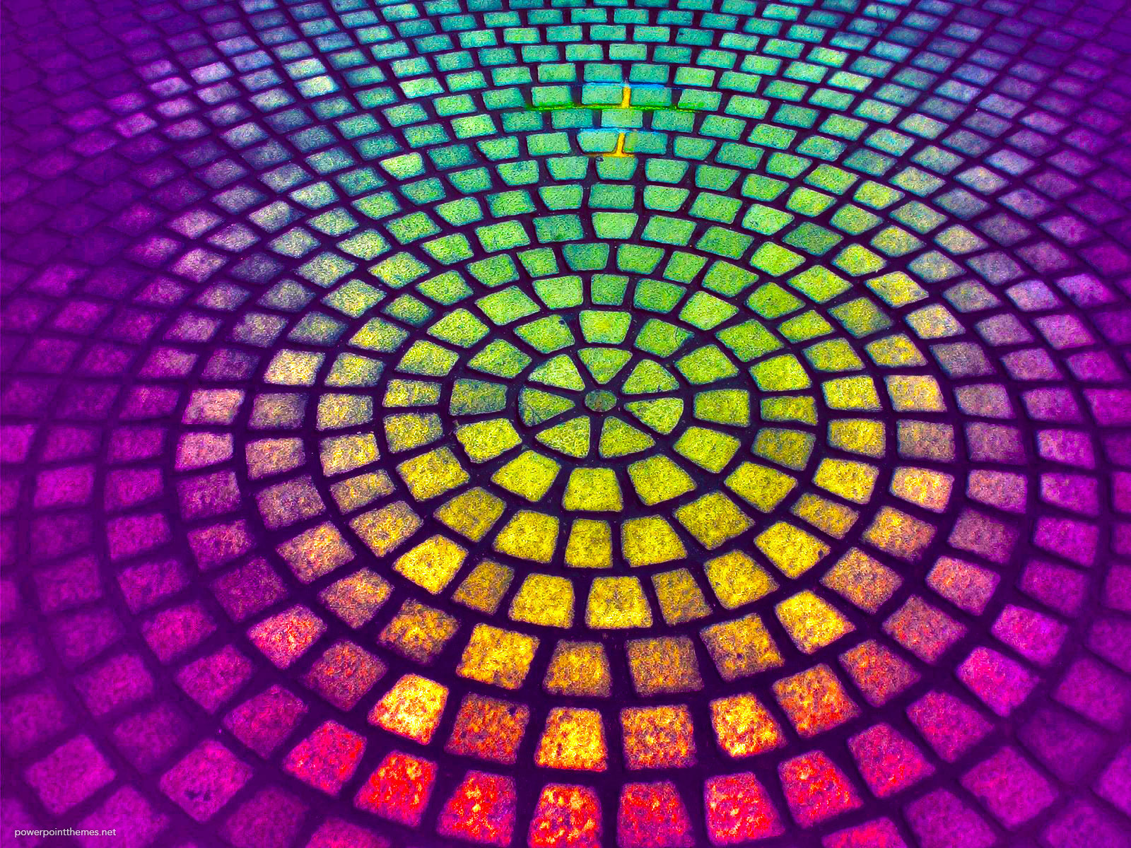 Paving Circle Rainbow HDR Background
