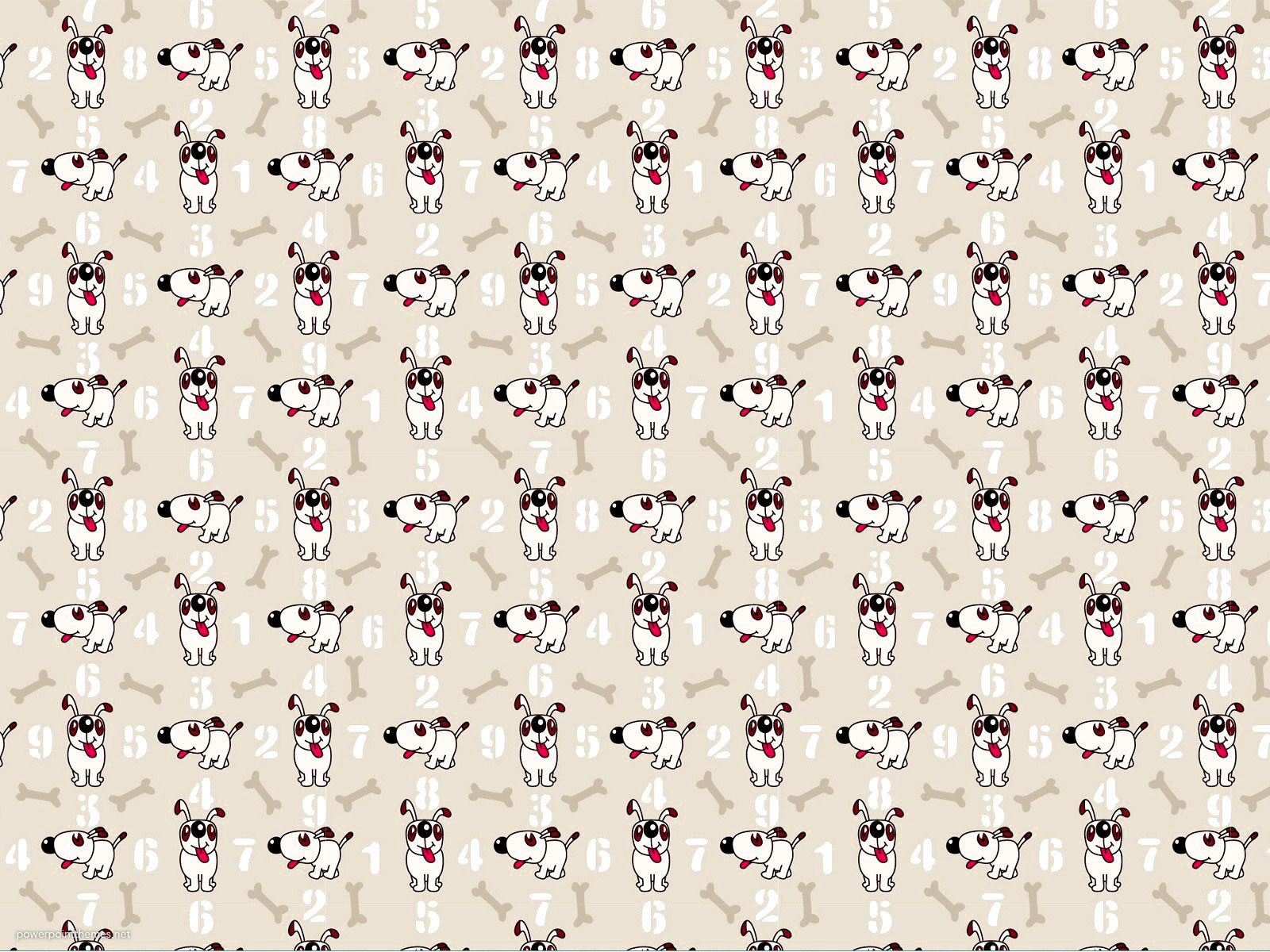 Puppy Cartoon Background