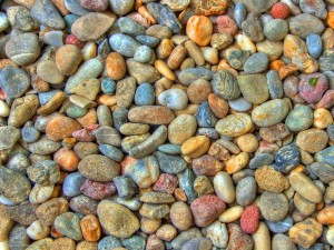 Colorful Rainbow Stones Background