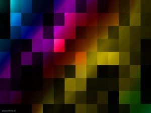 Rainbow Tile Modern Background