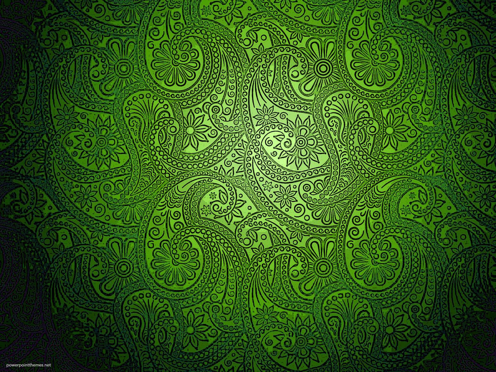 Modern Green Batik Background