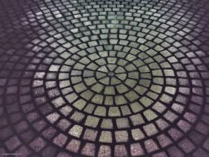 Paving Circle HDR Background