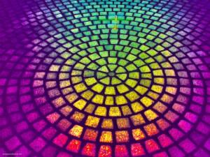 Paving Circle Rainbow HDR Background