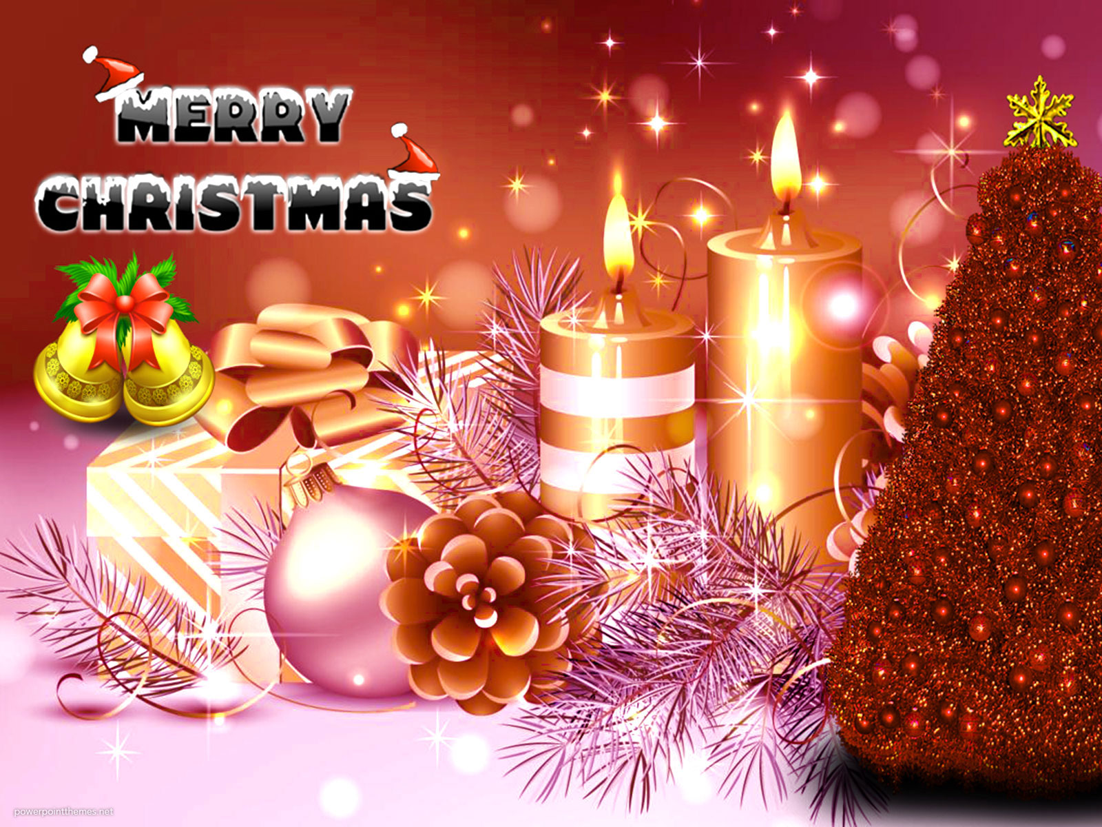 Merry Christmas Tree PowerPoint Background